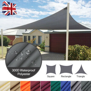 Outdoor Garden Patio Sun Shade Sail Canopy Awning Waterproof 98% UV Protected UK