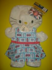Build-A-Bear White Hello Kitty with UK UNION JACK BOW and LONDON Dress LOT