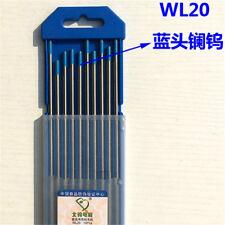 10pcs 1622432150mm 2 Lanthanum Wl20 Blue Tig Welding Tungsten Electrode
