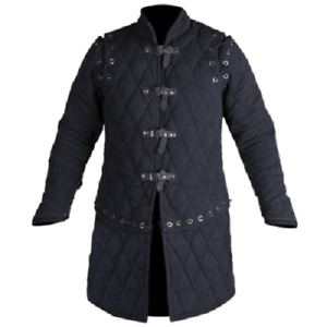 Medieval & Renaissance Viking Black Color For Armor Reenactment Gambeson