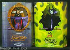 "MALEFICENT Doll Evil Queen Great Villains Disney 40th Anniversary EXC BOX Barbi"""