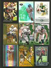 (18) VARIOUS PRODUCTS FOOTBALL PARALLEL CARD LOT-REFRACTORS-SERIAL #'D-GOLD +