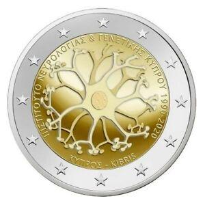 Pièce commemorative 2 euros Chypre 2020 UNC - Anniversaire de l'institut