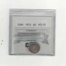 1913  Coin Mart Graded Canadian,  5 Cent, **VG-10**