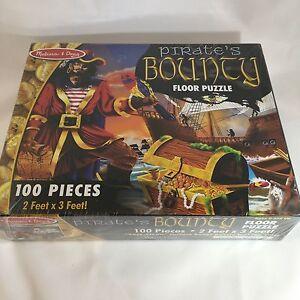 Melissa & Doug Pirate's Bounty Floor Jigsaw Puzzle 100 pc 2 ft X 3 ft #4402