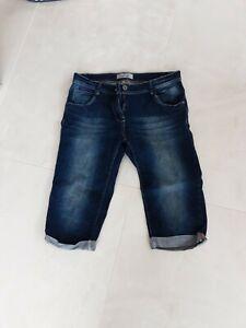 Blue Mootion Dreiviertel Jeans Hose Blau Damen Gr.42