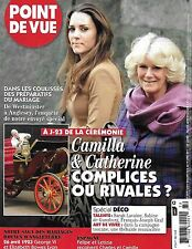 Point De Vue magazine Kate Middleton Camilla Parker Bowles George VI Elizabeth