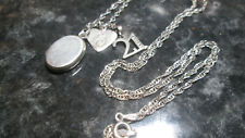 STERLING SILVER 925 NECKLACE WITH HEART PHOTO LOCKET AND 21 60CM 4G