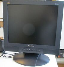 "VIEWSONIC VG700B 17"" LCD Monitor Built In Speakers + adapter"
