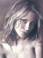 Nude Female Art Original Drawing Erotic Pinup Sexy Beautiful Blonde Stunning Hot