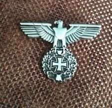 Roman Eagle and Maltese Cross German Style WW2 Badge Steel Pin Badge