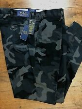 Polo Ralph Lauren Chino Pants 40 32 GRAY Camo  Stretch Slim Fit NWT