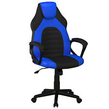 Lifestyle Solutions Omaha Gaming Office Chair with Faux Leather, Blue