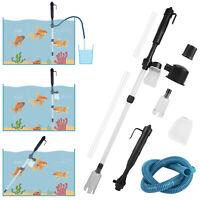 Electric Aquarium Cleaner Syphon Fish Tank Pump Vacuum Gravel Water Filter US