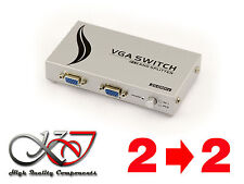 SWITCH + SPLITTER (MATRIX) VGA - 350 MHz - 2 SOURCES VERS 2 SORTIES