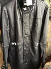 New $899 Size Small Adidas SLVR Lambskin Elongated  Soft Leather Jacket
