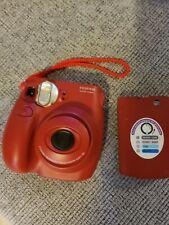 Fuji instax mini 7s camera red Polaroid