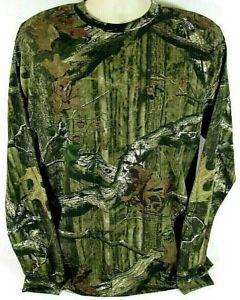 Mossy Oak Break Up Infinity Long Sleeve Shirt Camo Green Brown Men's Women's