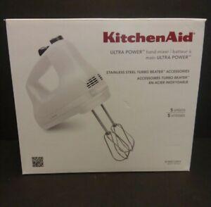 KitchenAid ULTRA POWER Hand Mixer White KHM512WH BRAND NEW