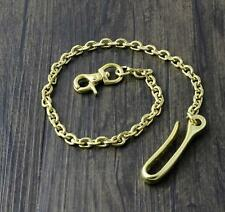 """18"""" Solid Brass Biker Trucker Wallet Chain Jean Keychain With Fob And Hook +"""