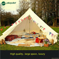 3M Beige Bell Tent WaterproofCotton Canvas 5 Person Camping Outdoor TentFactotry