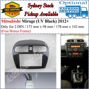 Harness + Fascia facia Fits Mitsubishi Mirage Double Two 2 DIN Dash Kit