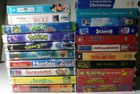 VHS Childrens Classics- Lot of 21- Disney/TMNT/Charlie Brown/Pokemon