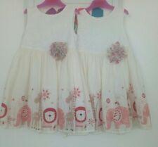 Twin Girls lined TU Dresses 2-3 Years