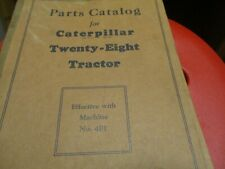 Caterpillar Twenty Eight  Tractor Parts Catalog