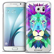 Coque Housse Etui Pour Galaxy S6 Polygon Animal Rigide Fin Lion