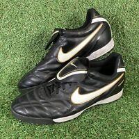Nike Tiempo Natural III TF Black Astro Football Boots Trainers Size UK 11 EU 46