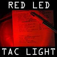 Dual Function Red LED Keychain Torch Lapel Light Tactical Military Hunting AMCU