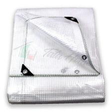 Telo antistrappo occhiellato retinato trasparente impermeabile multiuso 13misure