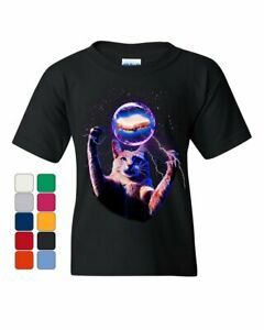Cat Catching a Sandwich Youth T-Shirt Plasma Ball Kitty Kitten Weird Kids Tee