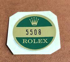 Vintage Caseback Sticker Certificate Rolex Submariner 5508 Steel