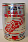 Detroit Red Wings Molson Empty Mini Keg 5 Ltr Can 2002 NHL Stanley Cup Champion