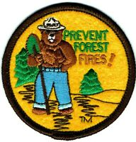 ⫸ Official SMOKEY BEAR Prevent Forest Fires US Service Embroidered Patch NEW S12