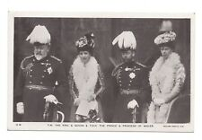 Vintage RP postcard T.M The King & Queen & T.R.H The Prince & Princess of Wales