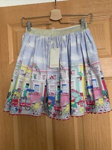 Gorgeous Monsoon Pink Blue Green Yellow Sweet Shop Skirt Age 12-13 Bnwt