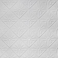 ANAGLYPTA PAINTABLE WALLPAPER - VINTAGE TEXTURED EMBOSSED WHITE