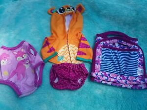 """Baby Alive Doll hoodie diaper CLOTHES LOT for 12"""" - 14"""" BA DOLLS BABY GO BYE BYE"""