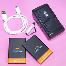 Accessory 2x 3920mAh Battery Universal Charger Data Cable for LG Motion 4G MS770