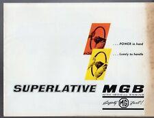 MG MGB Roadster 1962-64 UK Market Sales Brochure 3-Bearing