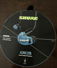 Shure AONIC 215 Sound Isolating Earphones, Blue