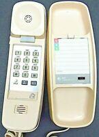 Vintage AT&T 210 Trimline Tan Desk / Wall Push Button Telephone Landline Phone