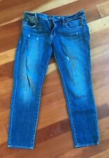 Articles Of Society Faith Rolled Denim 6-8 Size 29 COACHELLA Soft Blue Jeans
