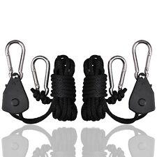 2x1/8 75LBS YOYO Heavy Duty Rope Ratchet  Hanger Kit for LED Aquarium Grow Light
