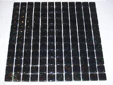Sample Glitter  Black Galaxy Glass Mosaic Tile