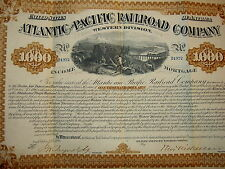 Atlantic & Pacific Railroad Co.1880. Free Shipping