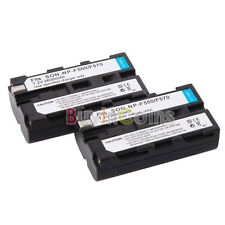 2x NP-F550 Li-ion Battery For Sony NP-F330 F570 + Charger + Adapter BDUS